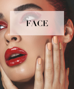 girls face with makeup beauty