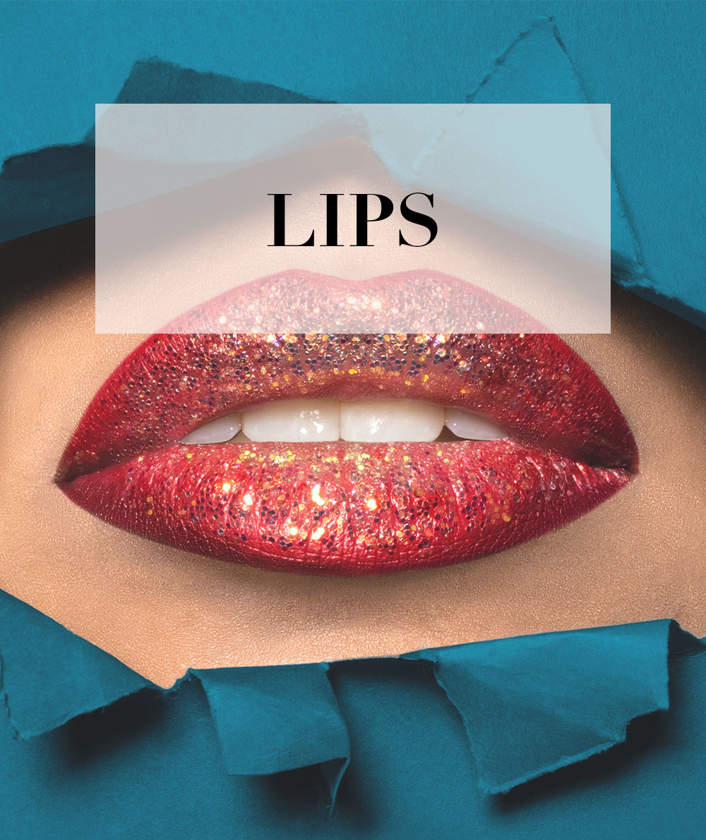 girls lips with makeup beauty