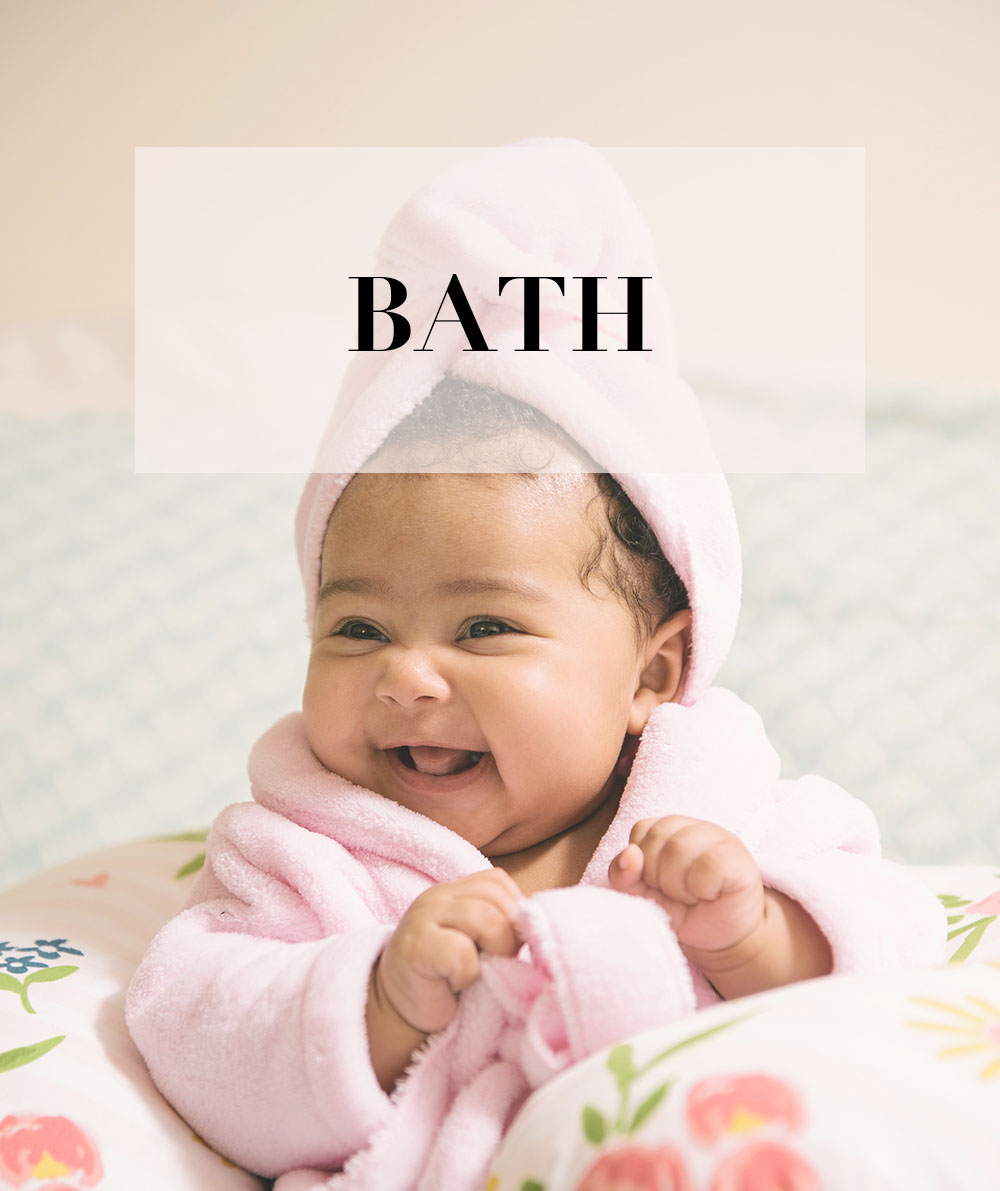 baby kids bath shop baby girl in bath towel