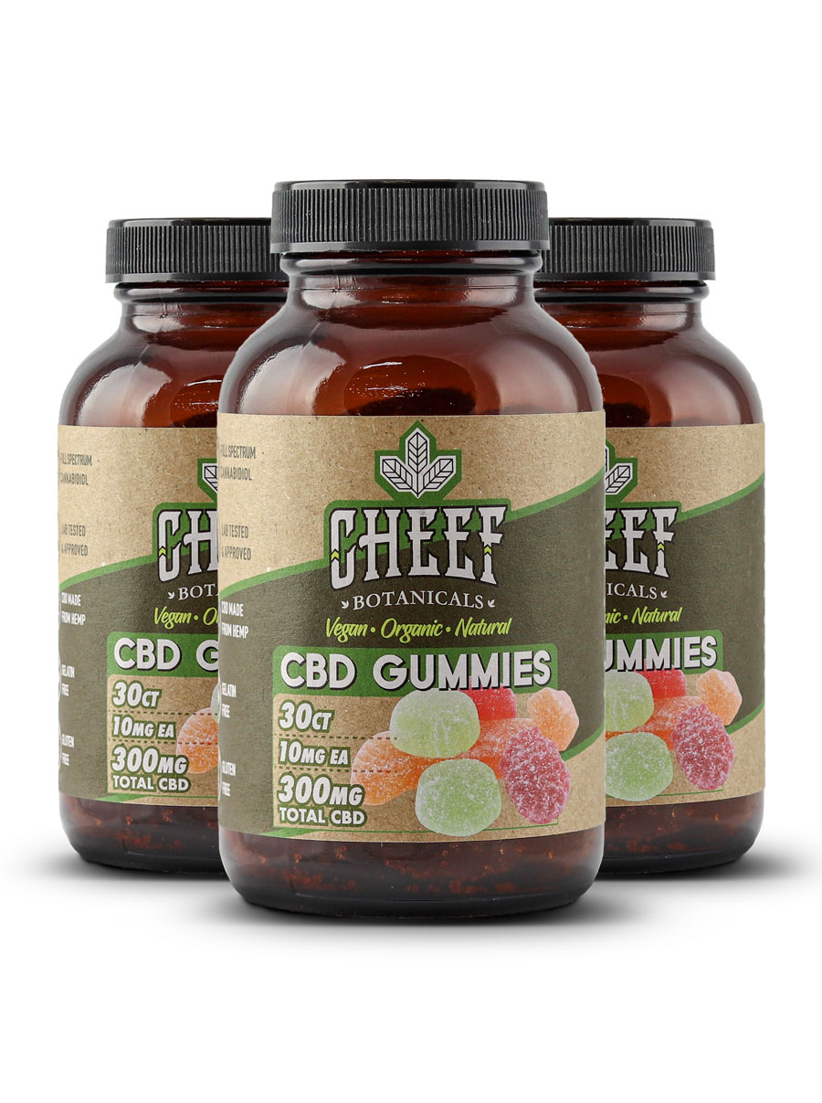 cheef botanicals 3 Vegan CBD Gummies 300mg