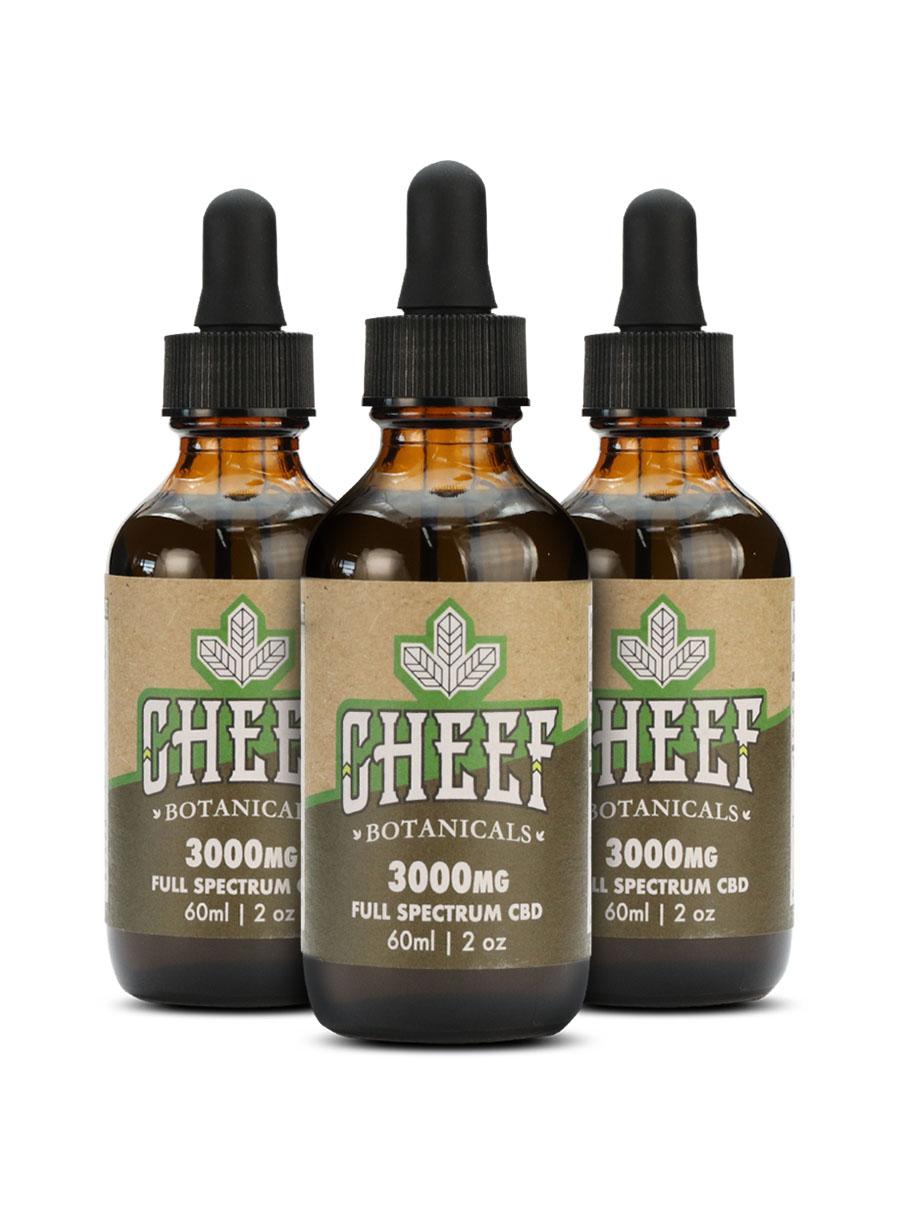 cheef botanicals Hemp CBD Oil Drops 3000mg