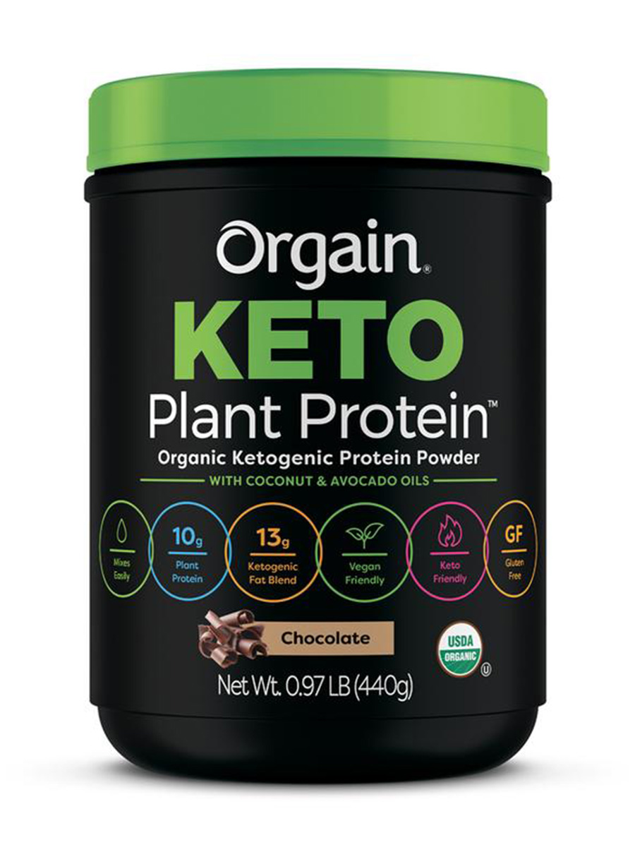 orgain keto plant based protein powder