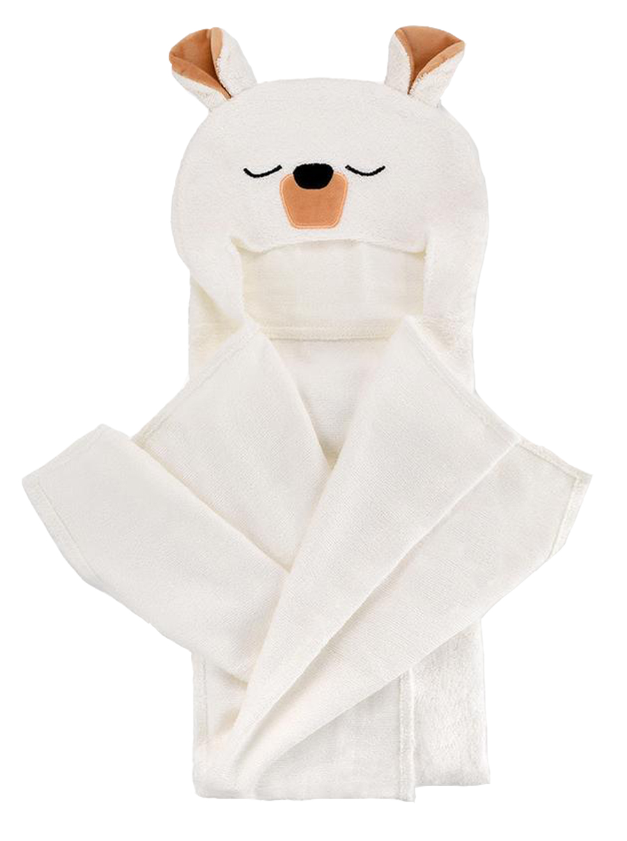 Natemia Polar Bear Bamboo Hooded Towel