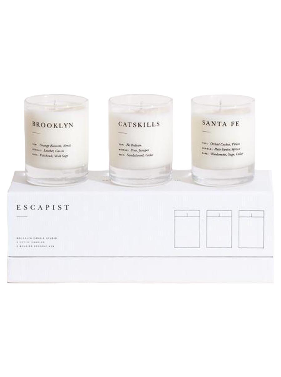 brooklyn candle studio escapist mini Candle set