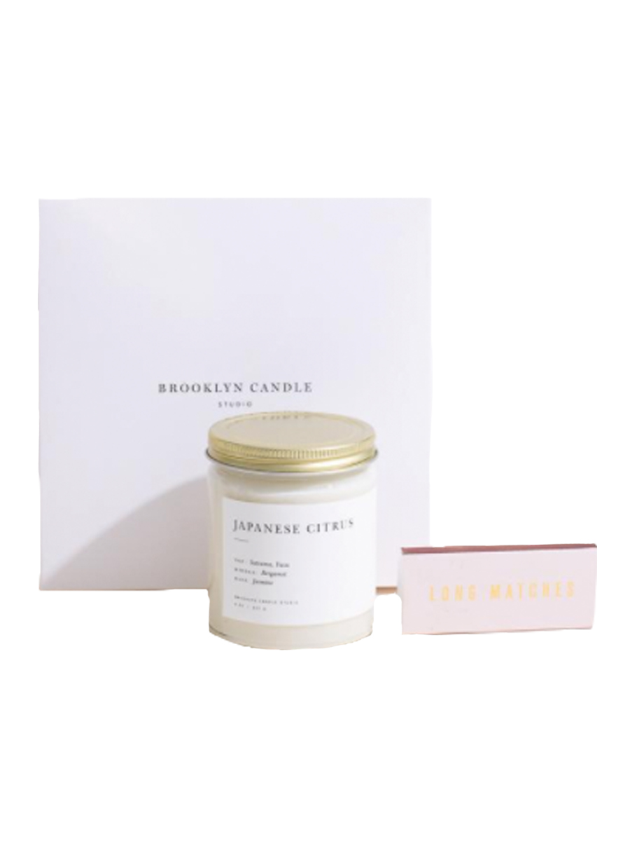 brooklyn candle studio Minimalist Candle + Matchbox Gift Set