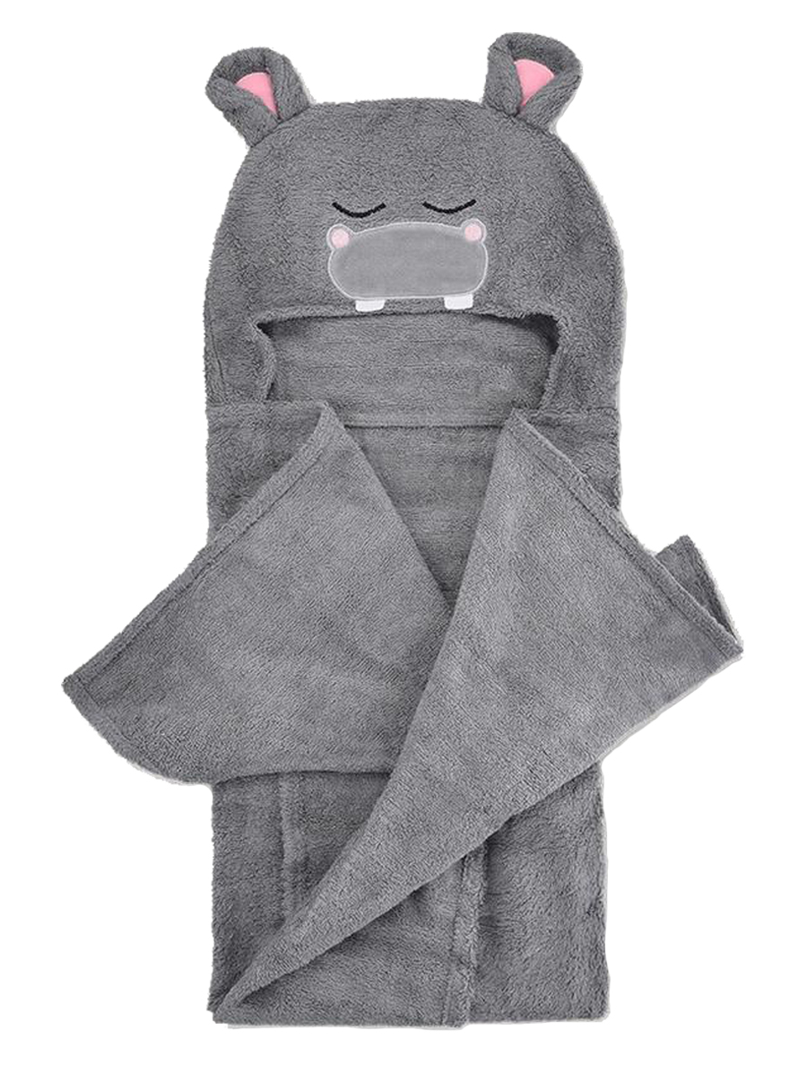 Natemia Hippo Bamboo Hooded Towel