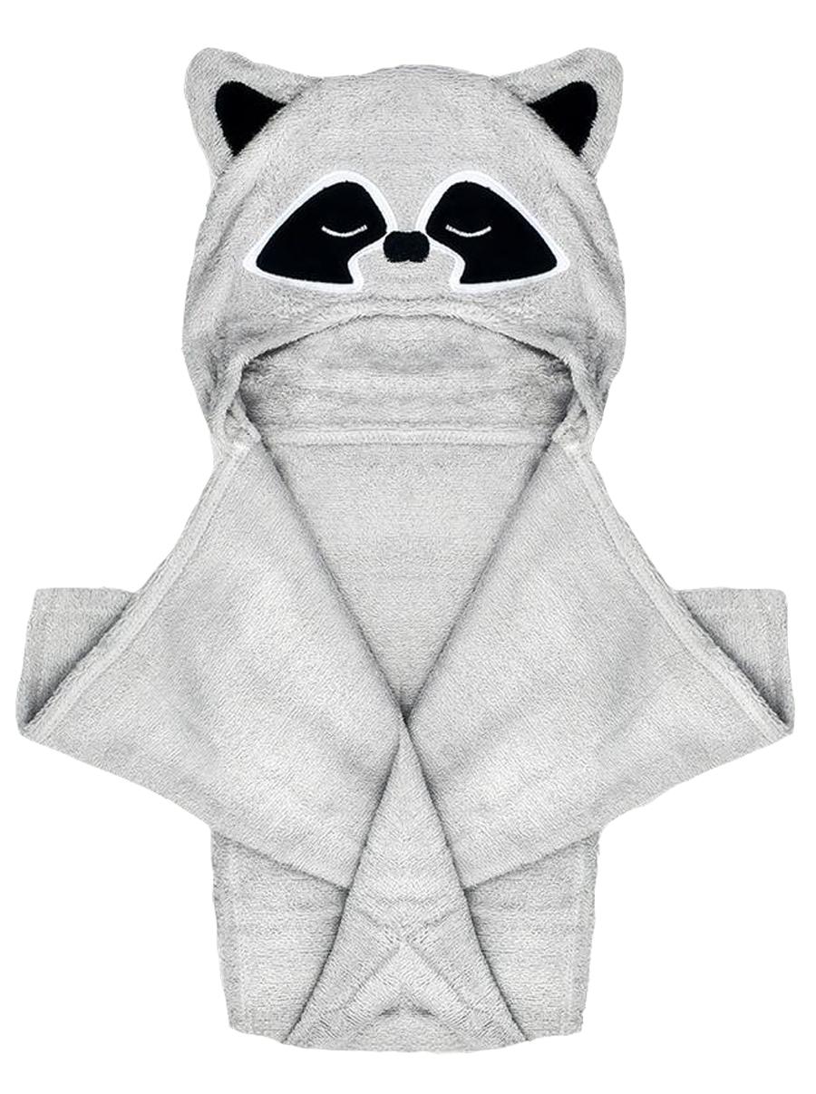 Natemia Raccoon Bamboo Hooded Towel