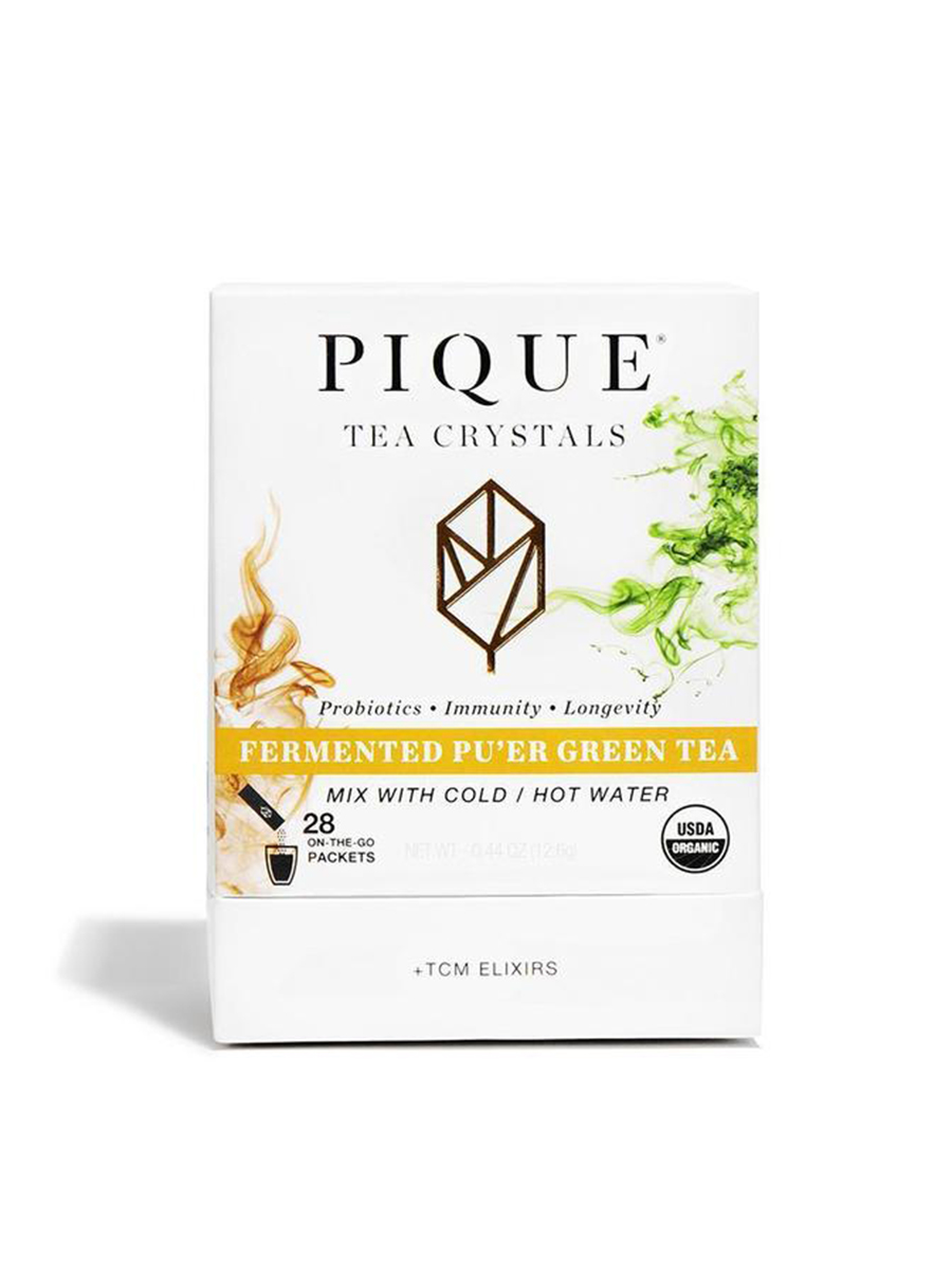 pique tea fermented pu'er green tea